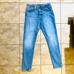 Levi 501 Light Wash Skinny Jeans 26/30